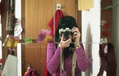 (.MartaR.) Tags: camera portrait selfportrait film me girl tattoo self canon mirror io marta ritratto ragazza specchio ftb analogic pellicola aprile2011