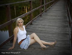 (v.maxi) Tags: bridge portrait lake girl female d50 foot model nikon legs platform blondehair magyar miniskirt mdchen hd t patri szke lny n miniszoknya