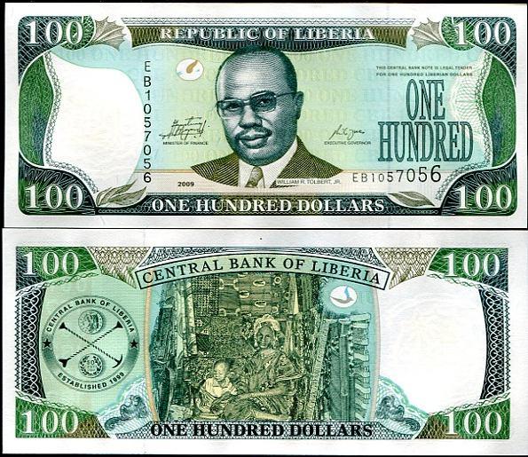 100 Dolárov Libéria 2009