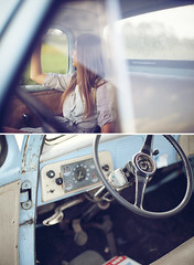 Kelsey [explore] (kevinmayer.) Tags: portrait reflection glass truck vintage naturallight american 50s studebaker 50l kevinmayer 5dmarkii 5dmkii wwwkevinmayerphotocom kelseyjablonski