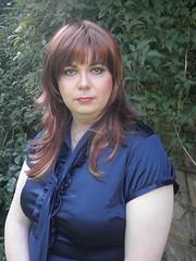 blue satin dress  redhead(33) (Jenni Makepeace) Tags: blue stockings tv dress dressing redhead tgirl transvestite service satin crossdresser shemale sophies pvcjenni sophiesdressingservice jennimakepeace