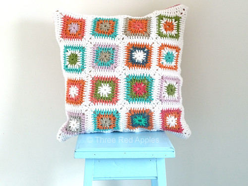 Crocheted cushion...