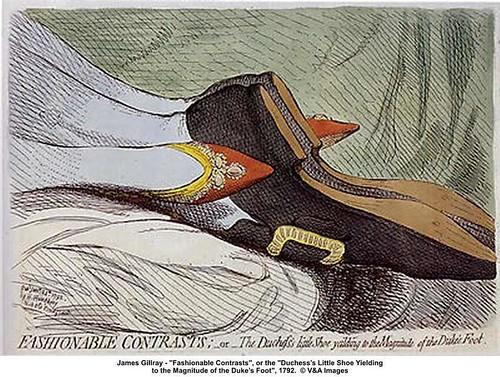 "James Gillray - ""Fashionable Contrasts"" / Art Knowledge News"