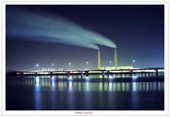 Power Plant (Damon | Photography) Tags: city longexposure plant nature night landscape long exposure factory power shot nightshot pollution land kuwait mm powerplant nikkor 35 factor kuwaitcity polluted nikon35mm mywinners