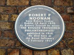 Photo of Robert Tressell blue plaque