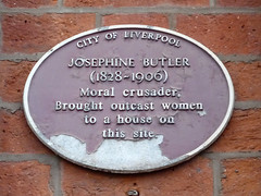 Photo of Josephine Butler brown plaque