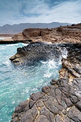 Fins, Oman (The T-Man) Tags: sea cliff seascape beach nature water landscape daylight rocks cove azure filter edge noon om oman muscat fins terence wwwterencepereiraphotocom