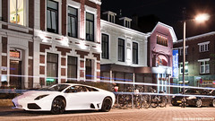 Welcome 2 My Neighbourhood (Thomas van Rooij) Tags: lighting street nightphotography light white black cars netherlands car night contrast photography amazing italian nightshot thomas automotive bull exotic rims breda lamborghini find supercar exotics supercars murcielago lp640 rooij worldcars thomasvanrooij