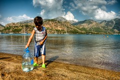 Life water (Nejdet Duzen) Tags: trip travel boy sea vacation cloud mountain holiday beach turkey trkiye deniz ocuk bulut da tatil turkei seyahat plaj mula kzkumu saariysqualitypictures mygearandme ringexcellence