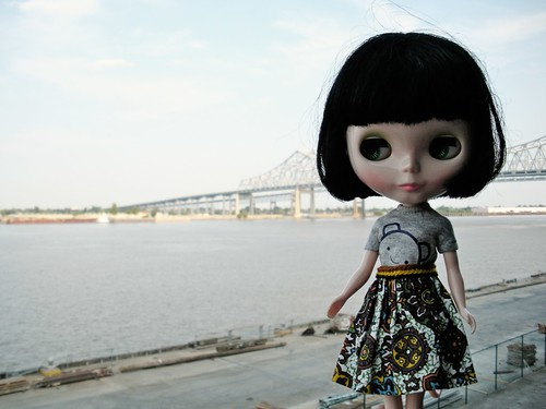 little girl, big river.