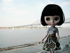 little girl, big river.