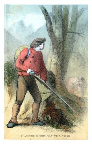 006-Cazador de osos en el valle de Ossau-Costumes pyrénéens-1860