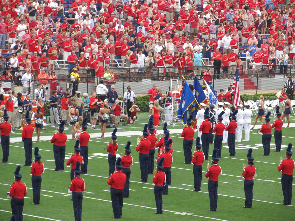 Singing the Star Spangled Banner, Vaught by Ken Lund, on Flickr