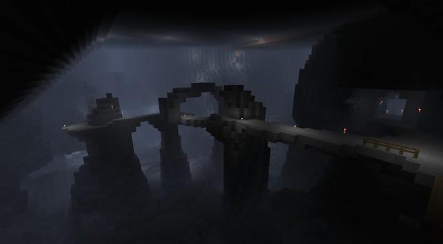 Le pont d'accès depuis la tour de guet