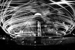 Spinning at The Ex (Mute*) Tags: light bw toronto motion blur wheel night ride nightshot hurricane trails ferris cne canonef1740mmf4lusm attraction canadiannationalexhibition theex