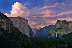 Afterglow - Sunset in Yosemite (Darvin Atkeson) Tags: california park desktop sunset summer wallpaper storm fall night clouds forest landscape waterfall glow background nevada falls sierra national yosemite halfdome rest bridalveil elcapitan alpenglow apline darvin atkeson darv liquidmoonlightcom