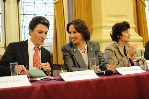 Le juge Marc Trévidic et Ségolène Royal