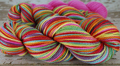 """Summer Love"" 6.9oz Organic Ultrafine Merino Wool Yarns (Aran) + 1.75 oz trim"