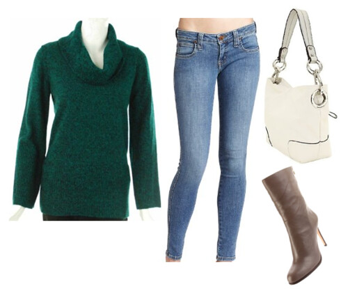 how to wear green sweater like Charlize Theron