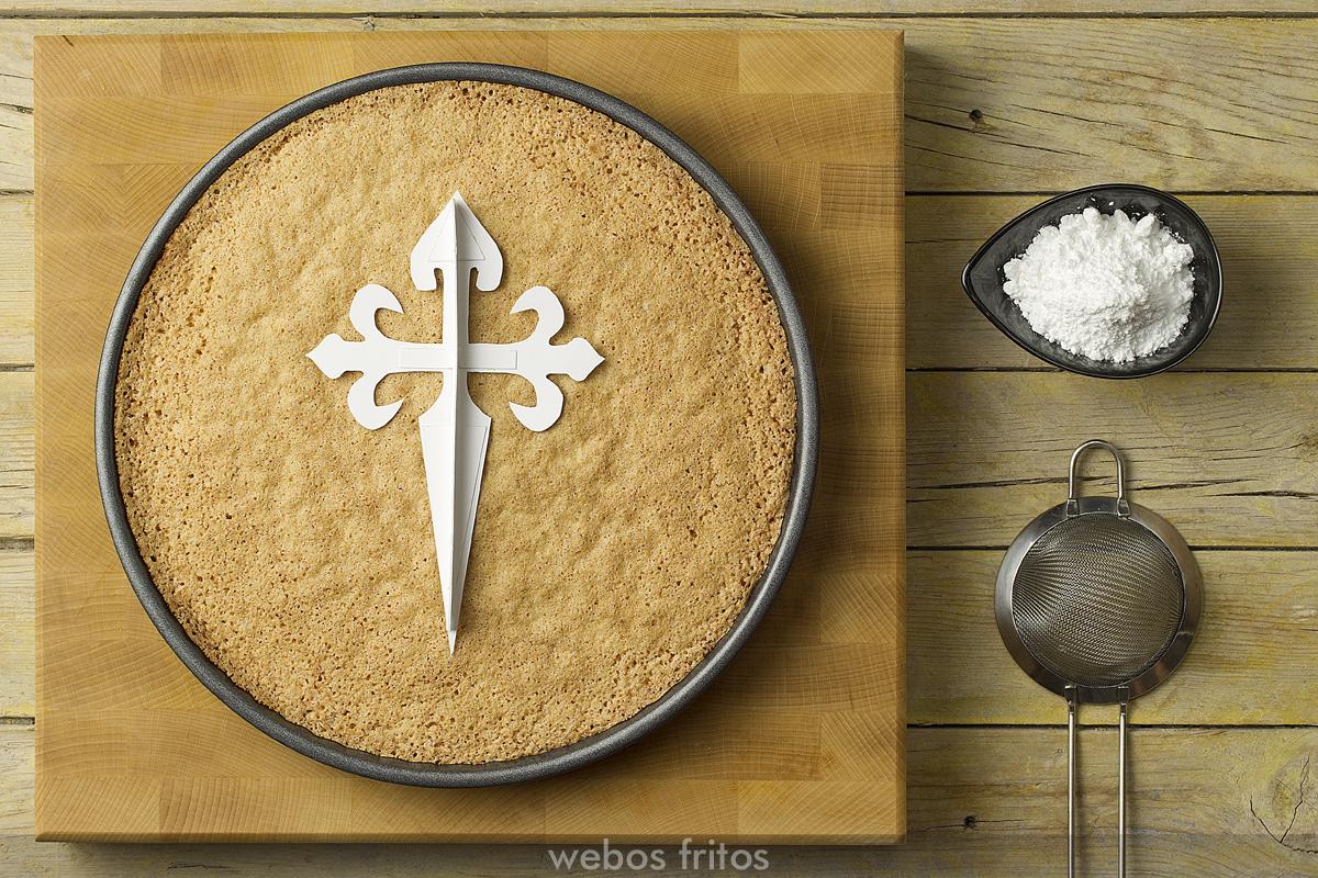 Preparación de la tarta de Santiago