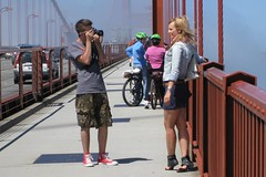 IMG_5312 (pl fas) Tags: sanfrancisco california city bridge girl bike bicycle fog golden photo model gate couple day ride jean foggy rental august skirt jacket goldengatebridge blonde shorts saddles allrightsreserved bbi blazing blazingsaddles 2011 copyright 6666baseball66 bbi copyrightbbi