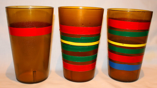 Why is there tape on the cups?