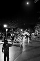 Full moon on the beach (Eleanna Kounoupa) Tags: street blackandwhite night greece crete rethymno νύχτα κρήτη blackwhitephotos δρόμου ρέθυμνο ελλάσ μαυρόασπρεσ