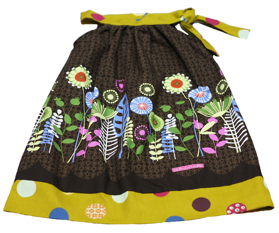 bow retro flowers dress