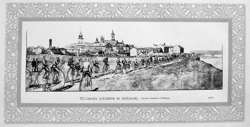47. Wycieczka cyklistow do Jablonny, 1889