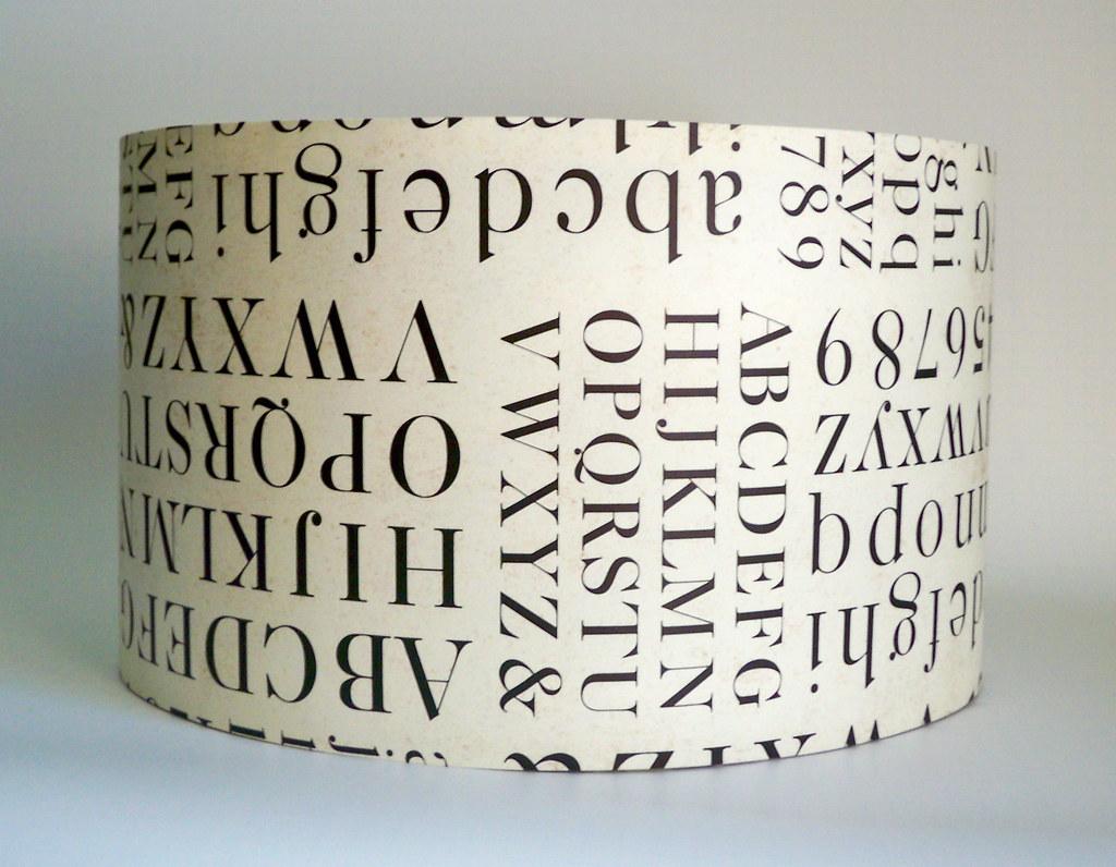 print paper lamp shade