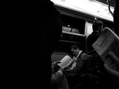 L'Assommoir (anw.fr) Tags: street city sleeping blackandwhite bw paris france subway book funny metro sleep iii mtro streetphotography nb tired metropolitain capitale rue grdigital fatigue livre ricoh ville zola drole sommeil dort endormi grd marrant amusant assomoir grd3 humoristique grdiii