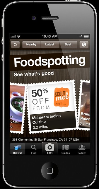 Foodspotting + Scoutmob = Mobspotting!