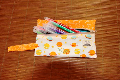 The 'sideway' pouch/pencil case