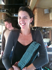 heather's first knitting project