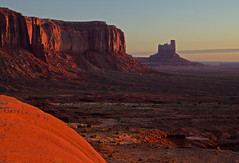Beginnings (dbushue) Tags: morning light red arizona southwest nature sunshine sunrise landscape dawn scenery rocks glow native cast monumentvalley mesa formations beginnings navajotribalpark 2011 coth supershot naturesgarden absolutelystunningscapes damniwishidtakenthat coth5 dailynaturetnc11