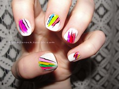 color brushes nail art (mynailsrock) Tags: white color rainbow pretty nails nailart mynailsrock mynailsrocktumblrcom