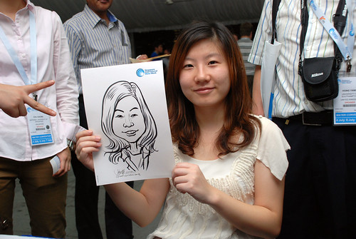 caricature live sketching for Singapore International Water Week Closing Dinner - 34