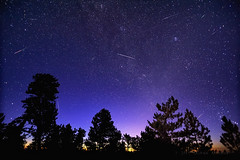 Morning Meteors of the Perseid Kind (Fort Photo) Tags: morning nature composite sunrise landscape twilight nikon colorado nightscape astrophotography co astronomy meteor perseid perseids perseidmeteorshower d700 tokina1116