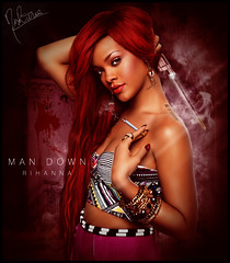 Man Down [Rihanna] (Nii Riera) Tags: new red music hot sexy video gun pop jamaica loud riri hombre rihanna caigo