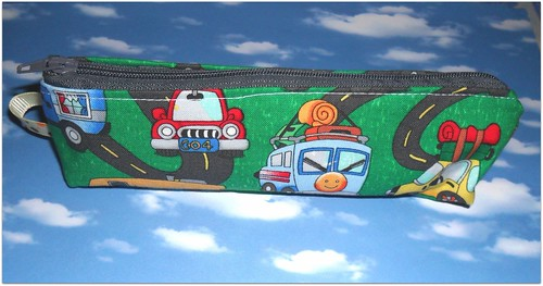 Bolsa porta lapis caravanas by Fuxiquices-da-isa
