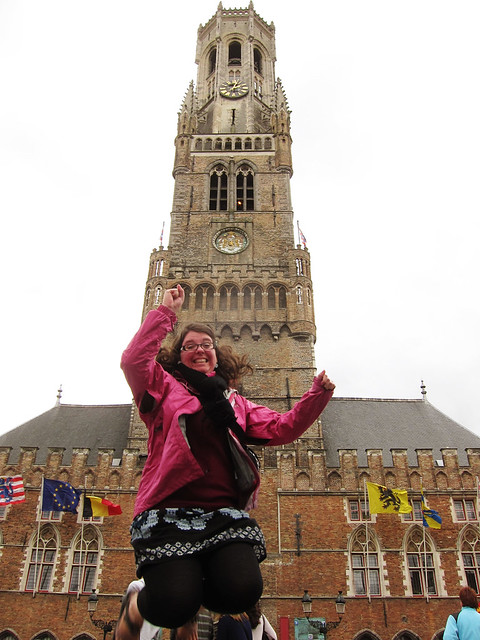 Jumping in Bruges