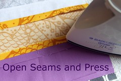 Sew together, press seams open