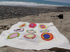 quilt on the beach