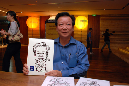 caricature live sketching for Royal Caribbean International Dinner and Dance 2011 - 3