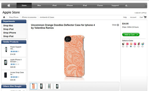 Doodles case in apple store!