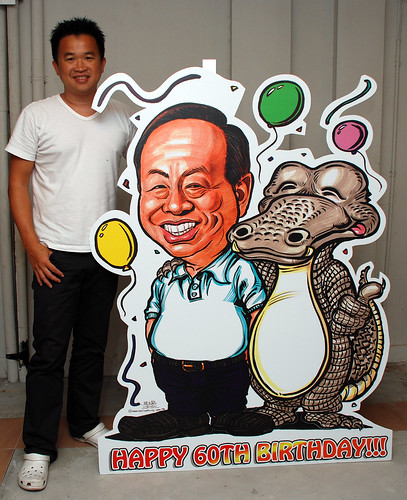 Caricature for Heng Long with crocodile printed on mobile standee 8