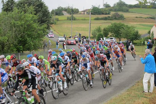 Robin with the Tour de France