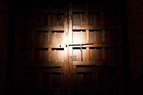 Chapel doors in Hotel Monestario, Cusco