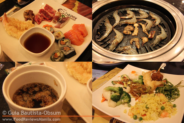 Yakimix assorted food collage