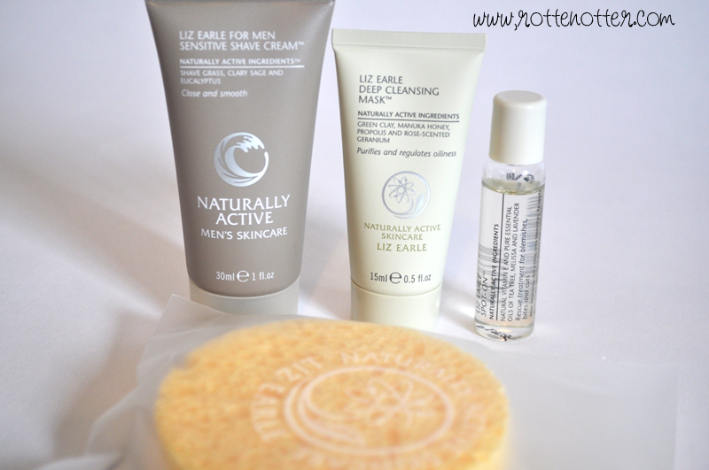 liz earle shaving cream spot on mud mask